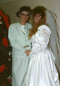 Aunt Gail and me at my wedding