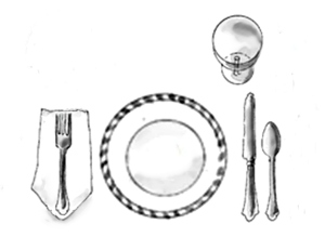 place setting ad simple