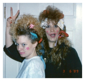 Michelle Jester and Yvette clowning around 1989 3a