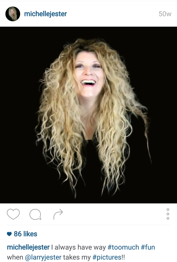 Michelle Jester Screenshot of Instagram Post for BLOG