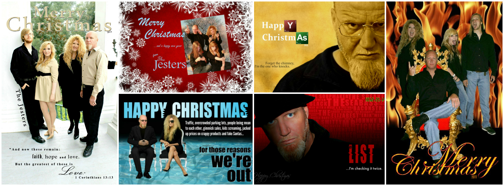 Michelle Jester Family Christmas Cards Funny Happy 4